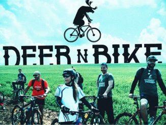 bike and deer